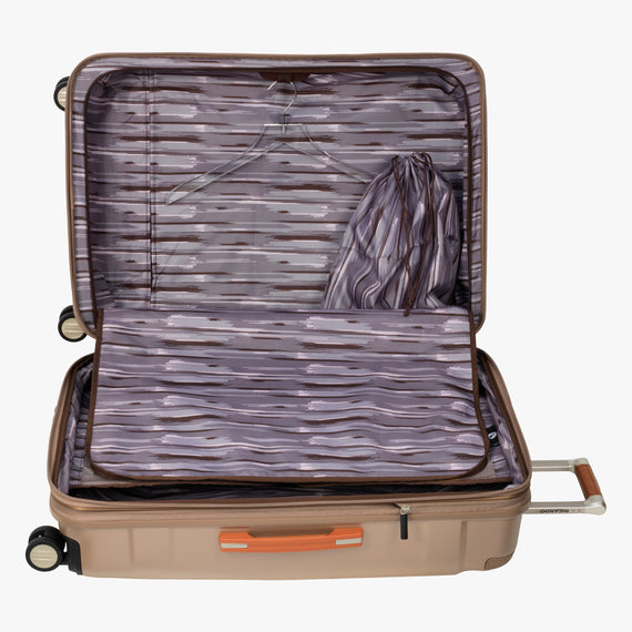 Large Check-In Ocean Drive 29-inch Check-In Suitcase in Sandstone Alternate Open View in  in Color:Sandstone in  in Description:Open Detail