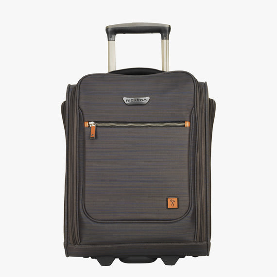 Small Carry-On San Marcos 16-Inch 2-Wheel Under-Seat Carry-On in Grey Front View in  in Color:Grey in  in Description:Front