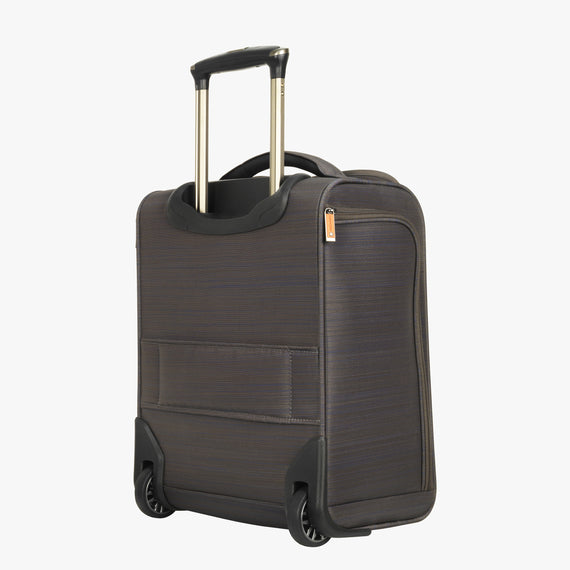 Small Carry-On San Marcos 16-Inch 2-Wheel Under-Seat Carry-On in Grey Back Quarter View in  in Color:Grey in  in Description:Back Angle