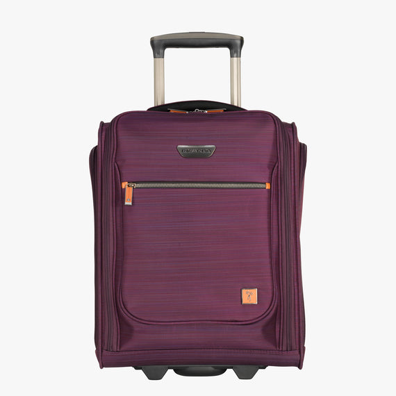 Small Carry-On San Marcos 16-Inch 2-Wheel Under-Seat Carry-On in Violet Front View in  in Color:Violet in  in Description:Front