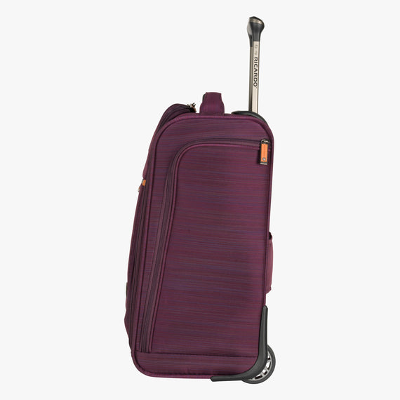 Small Carry-On San Marcos 16-Inch 2-Wheel Under-Seat Carry-On in Violet Side View in  in Color:Violet in  in Description:Side