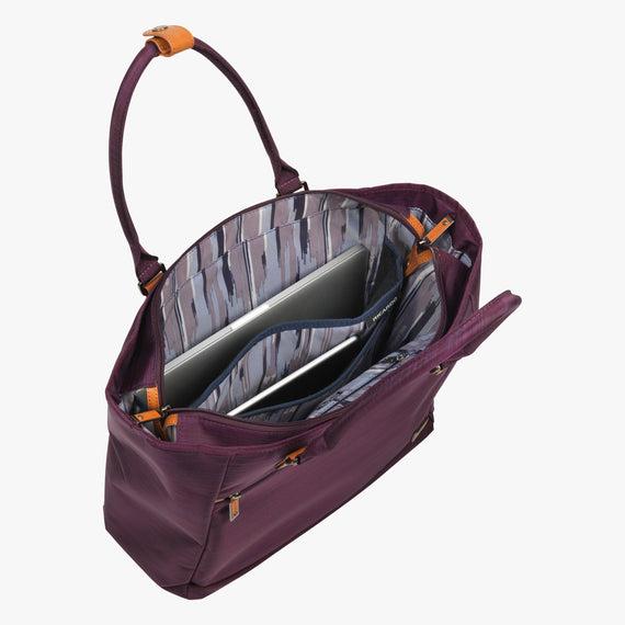 Travel Tote San Marcos Travel Tote in Violet Alternate Open View in  in Color:Violet in  in Description:Laptop Pocket