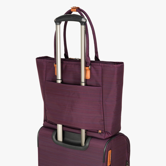 Travel Tote San Marcos Travel Tote in Violet Back Quarter View in  in Color:Violet in  in Description:Backstrap