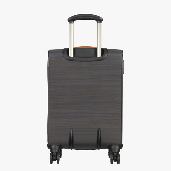 International Carry-On San Marcos 19-inch Carry-On Suitcase in Grey Back View in  in Color:Grey in  in Description:Back