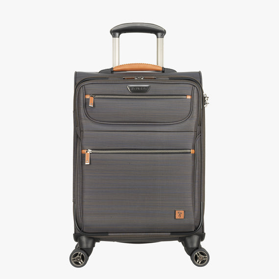 International Carry-On San Marcos 19-inch Carry-On Suitcase in Grey Front View in  in Color:Grey in  in Description:Front