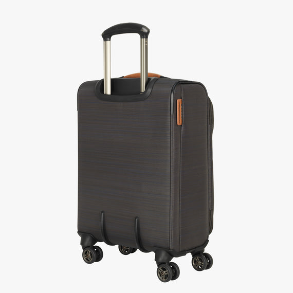 International Carry-On San Marcos 19-inch Carry-On Suitcase in Grey Back Angle View in  in Color:Grey in  in Description:Back Angle