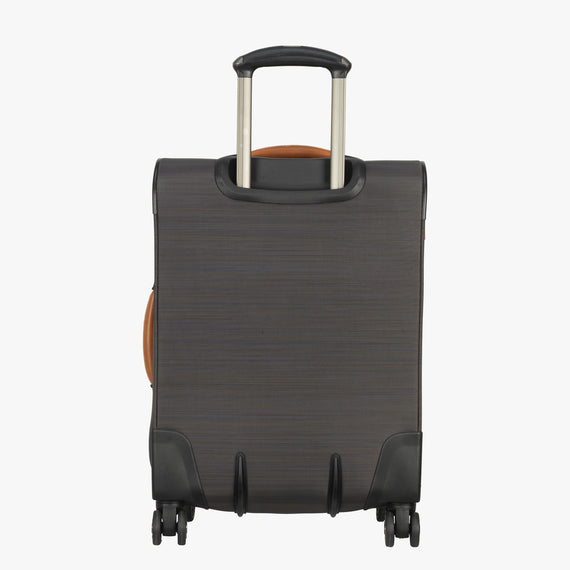 Carry-On San Marcos 21-inch Carry-On Suitcase in Grey Back View in  in Color:Grey in  in Description:Back