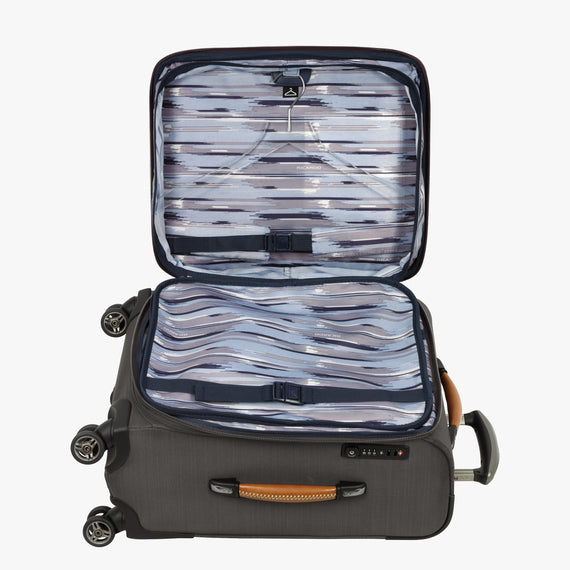 Carry-On San Marcos 21-inch Carry-On Suitcase in Grey Alternate Open View in  in Color:Grey in  in Description:Open Detail