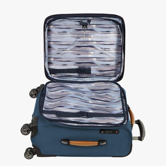 Carry-On Ricardo Beverly Hills 21-inch Carry-On Spinner Upright in Midnight Teal in  in Color:Midnight Teal in  in Description:Open Detail
