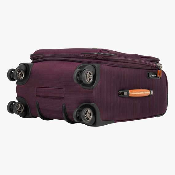 Carry-On San Marcos 21-inch Carry-On Suitcase in Violet Bottom View in  in Color:Violet in  in Description:Bottom