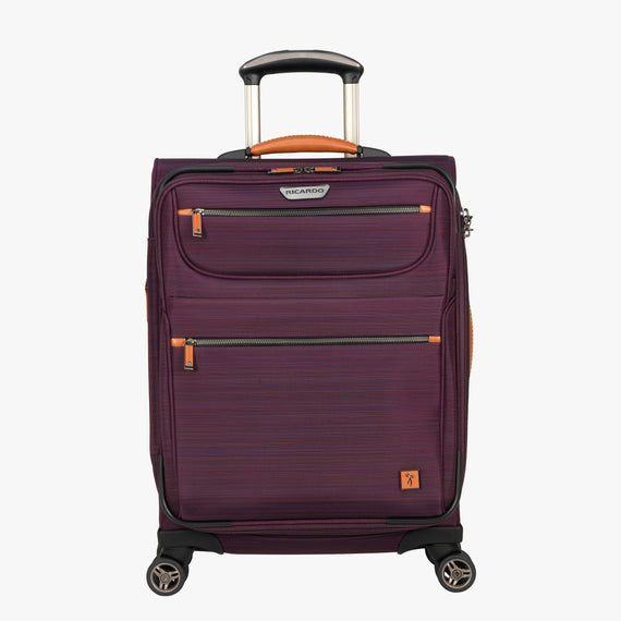 Carry-On San Marcos 21-inch Carry-On Suitcase in Violet Front View in  in Color:Violet in  in Description:Front