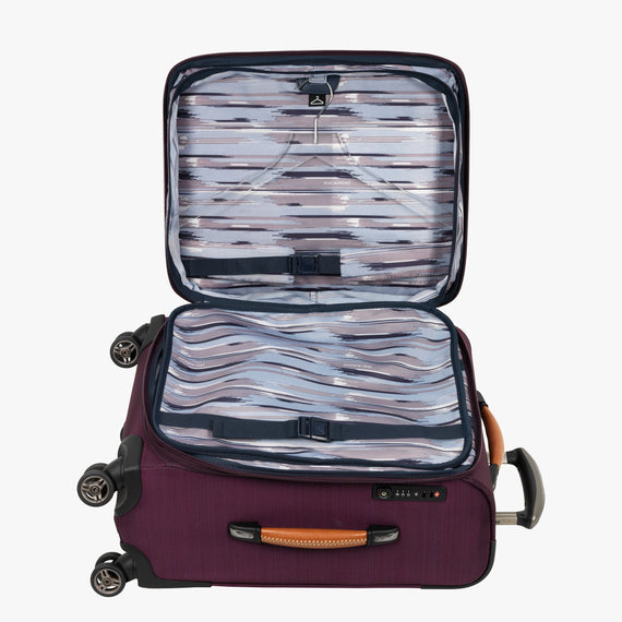 Carry-On San Marcos 21-inch Carry-On Suitcase in Violet Alternate Open View in  in Color:Violet in  in Description:Open Detail