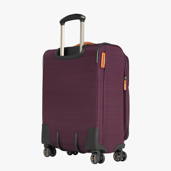 Carry-On San Marcos 21-inch Carry-On Suitcase in Violet Back Quarter View in  in Color:Violet in  in Description:Back Angle