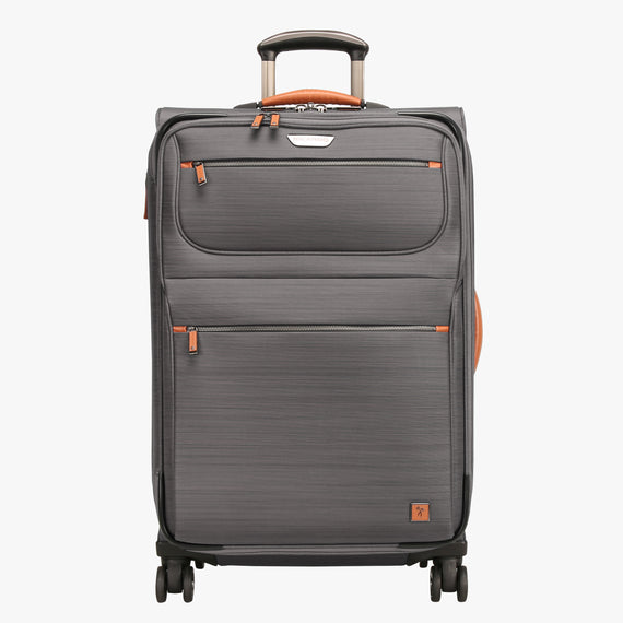 Medium Check-In San Marcos 25-inch Check-In Suitcase in Grey Front View in  in Color:Grey in  in Description:Front