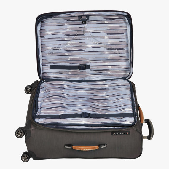 Medium Check-In San Marcos 25-inch Check-In Suitcase in Grey Alternate Open View in  in Color:Grey in  in Description:Open Detail