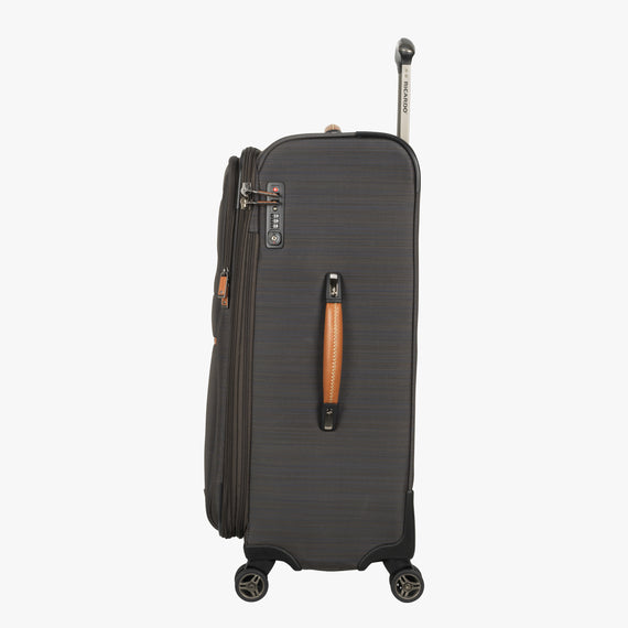 Medium Check-In San Marcos 25-inch Check-In Suitcase in Grey Side View in  in Color:Grey in  in Description:Side