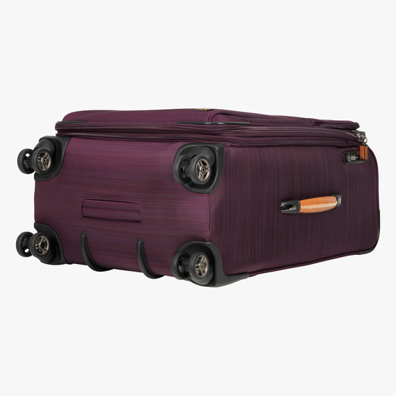 Medium Check-In San Marcos 25-inch Check-In Suitcase in Violet Bottom View in  in Color:Violet in  in Description:Bottom