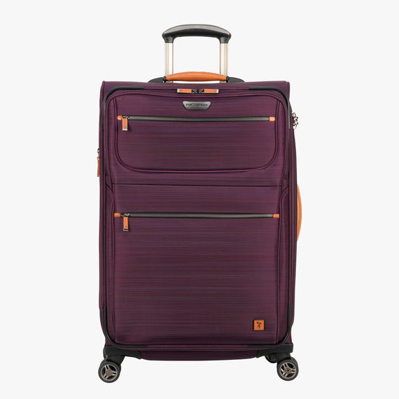 Medium Check-In San Marcos 25-inch Check-In Suitcase in Violet Front View in  in Color:Violet in  in Description:Front