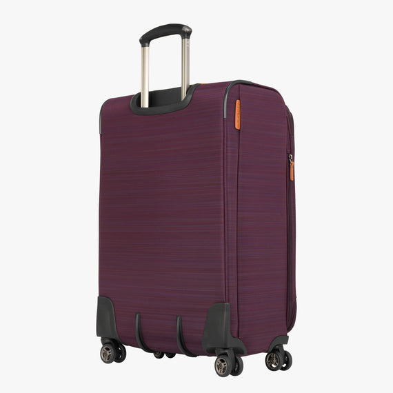 Medium Check-In San Marcos 25-inch Check-In Suitcase in Violet Back Quarter View in  in Color:Violet in  in Description:Back Angle
