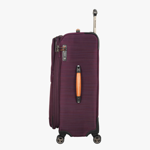 Medium Check-In San Marcos 25-inch Check-In Suitcase in Violet Side View in  in Color:Violet in  in Description:Side