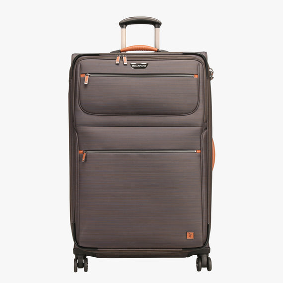 Large Check-In San Marcos 29-inch Check-In Suitcase in Grey Front View in  in Color:Grey in  in Description:Front