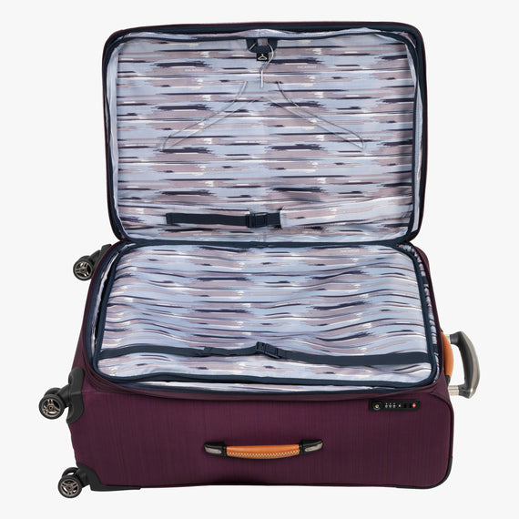 Large Check-In San Marcos 29-inch Check-In Suitcase in Violet Alternate Open View in  in Color:Violet in  in Description:Open Detail