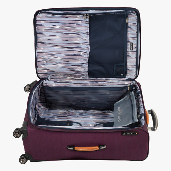 Large Check-In San Marcos 29-inch Check-In Suitcase in Violet Open View in  in Color:Violet in  in Description:Opened