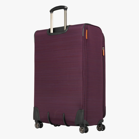 Large Check-In San Marcos 29-inch Check-In Suitcase in Violet Back Quarter View in  in Color:Violet in  in Description:Back Angle