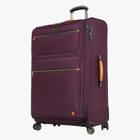 Large Check-In San Marcos 29-inch Check-In Suitcase in Violet Front Quarter View in  in Color:Violet in  in Description:Angled View