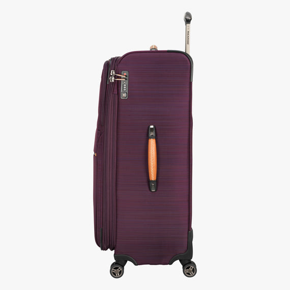 Large Check-In San Marcos 29-inch Check-In Suitcase in Violet Side View in  in Color:Violet in  in Description:Side