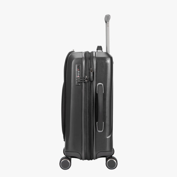 Carry-On Cupertino 20-inch Carry-On Suitcase in Black Side View in  in Color:Black in  in Description:Side