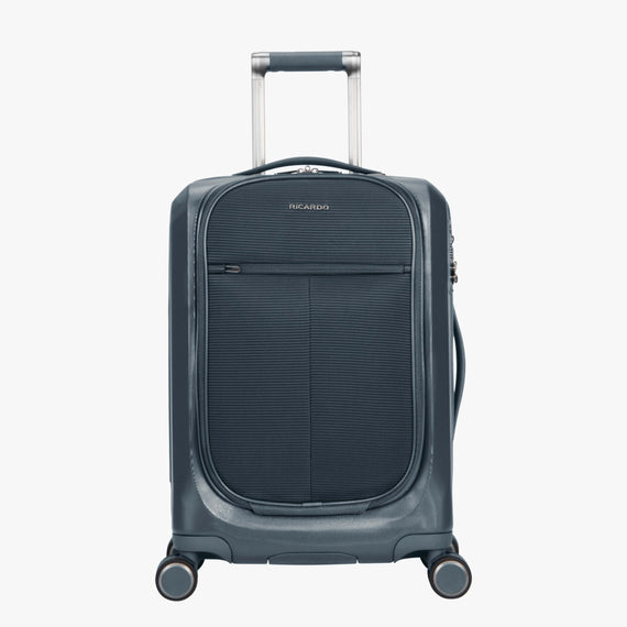Carry-On Cupertino 20-inch Carry-On Suitcase in Winter Blue Front View in  in Color:Winter Blue in  in Description:Front