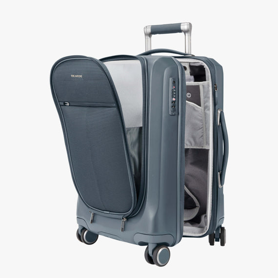 Carry-On Cupertino 20-inch Carry-On Suitcase in Winter Blue Alternate Open View in  in Color:Winter Blue in  in Description:Open Detail