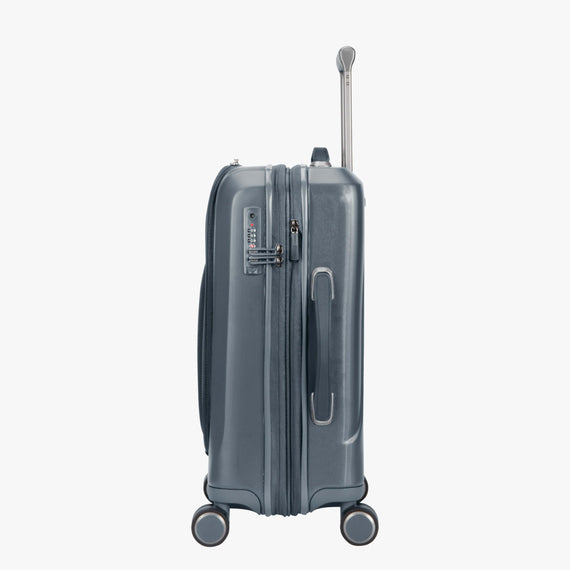 Carry-On Cupertino 20-inch Carry-On Suitcase in Winter Blue Side View in  in Color:Winter Blue in  in Description:Side