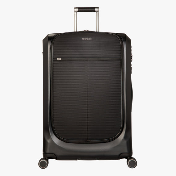 Large Check-In Cupertino 29-inch Check-In Suitcase in Black Front View in  in Color:Black in  in Description:Front