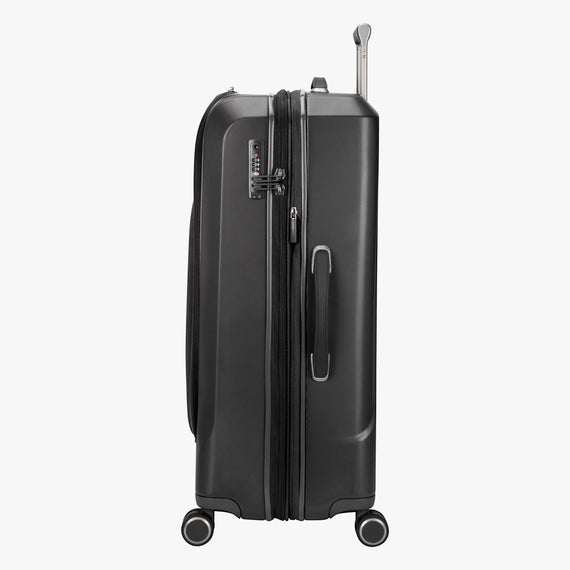 Large Check-In Cupertino 29-inch Check-In Suitcase in Black Side View in  in Color:Black in  in Description:Side