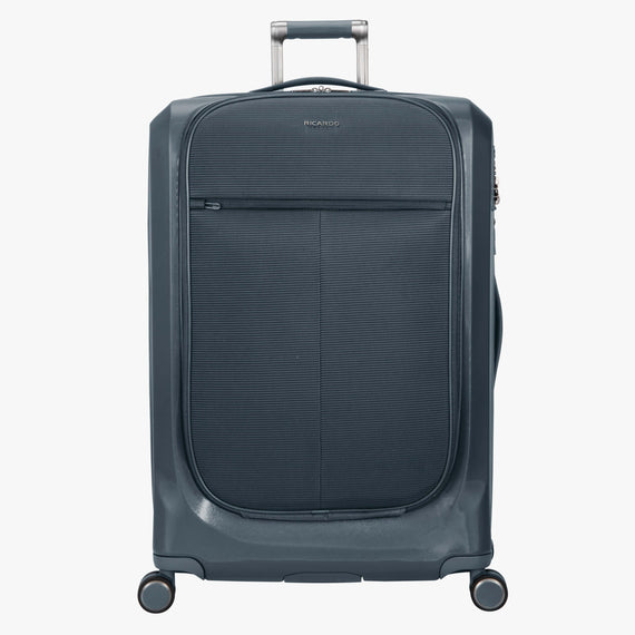 Large Check-In Cupertino 29-inch Check-In Suitcase in Winter Blue Front View in  in Color:Winter Blue in  in Description:Front