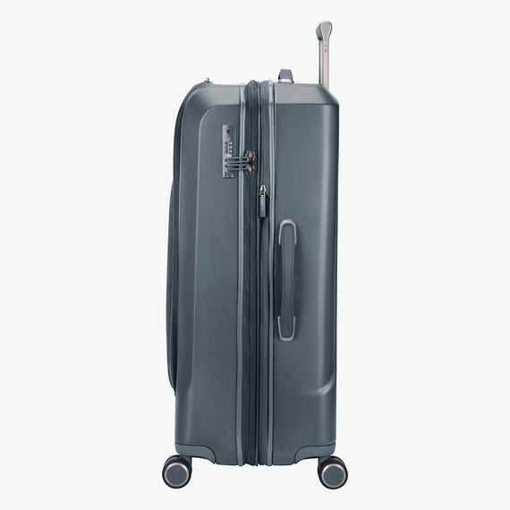 Large Check-In Cupertino 29-inch Check-In Suitcase in Winter Blue Side View in  in Color:Winter Blue in  in Description:Side
