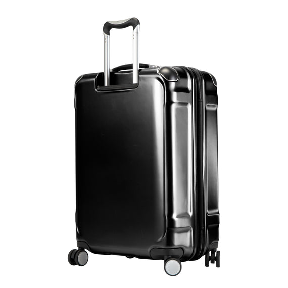 Medium Check-In Rodeo Drive 25-inch Check-In Suitcase in Black Back Angle View in  in Color:Black in  in Description:Back Angle