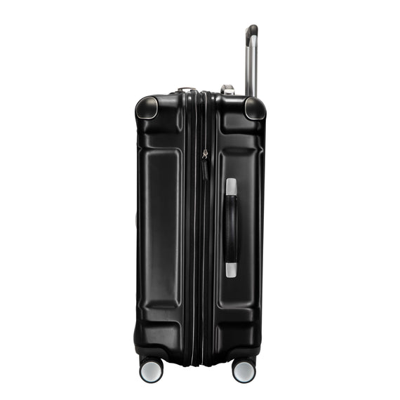Medium Check-In Rodeo Drive 25-inch Check-In Suitcase in Black Side View in  in Color:Black in  in Description:Side