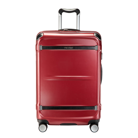 Medium Check-In Rodeo Drive 25-inch Check-In Suitcase in Crimson Flash Front View in  in Color:Crimson Flash in  in Description:Front