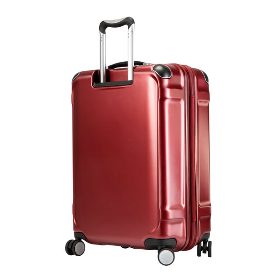Medium Check-In Rodeo Drive 25-inch Check-In Suitcase in Crimson Flash Back Angle View in  in Color:Crimson Flash in  in Description:Back Angle