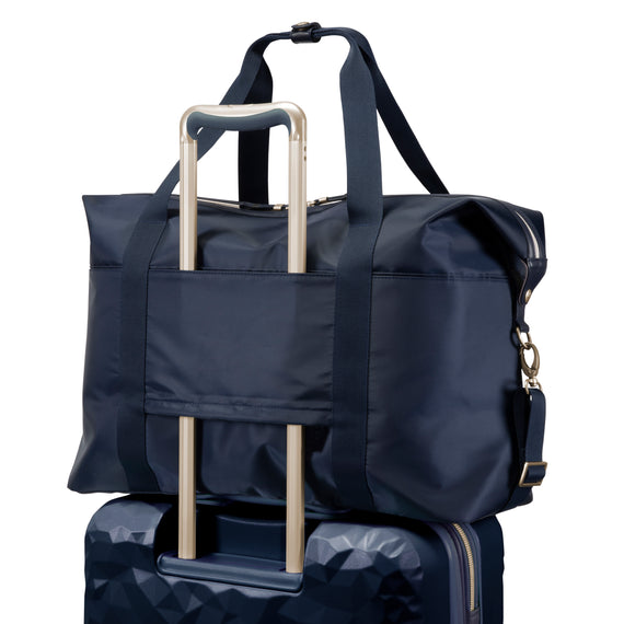 Weekender Duffel Indio Weekender Duffel in Dark Navy Back View in  in Color:Dark Navy in  in Description:Back