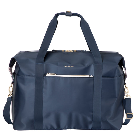 Weekender Duffel Indio Weekender Duffel in Dark Navy Front View in  in Color:Dark Navy in  in Description:Front