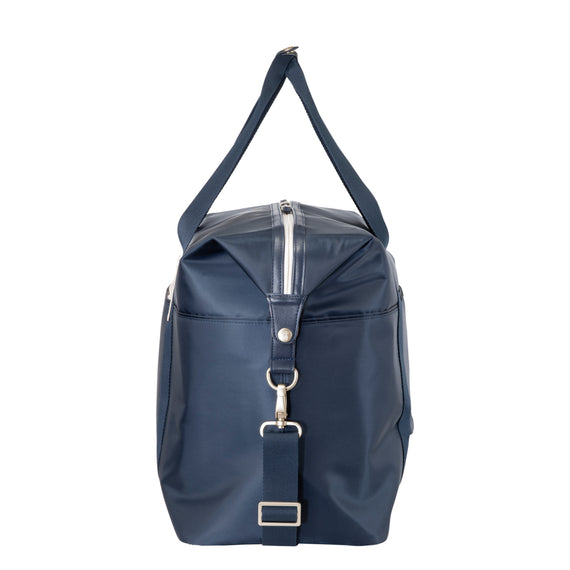 Weekender Duffel Indio Weekender Duffel in Dark Navy Side View in  in Color:Dark Navy in  in Description:Side
