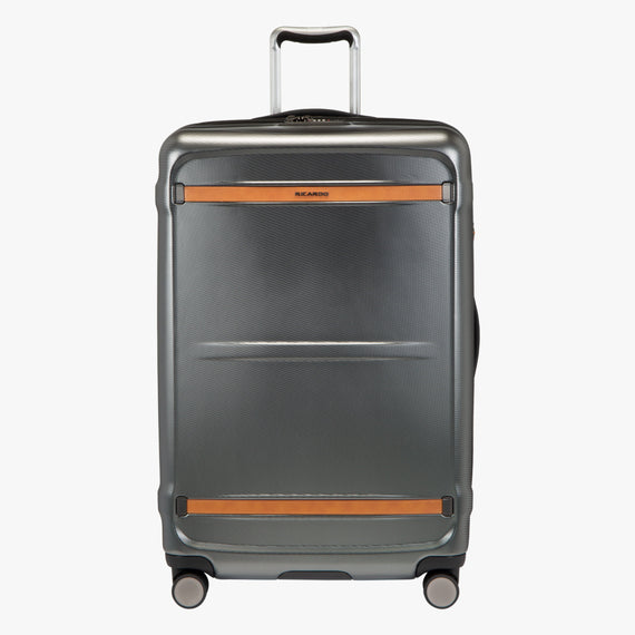 Large Check-In Montecito Hardside 29-Inch Large Check-in Suitcase in Grey Front View in  in Color:Grey in  in Description:Front