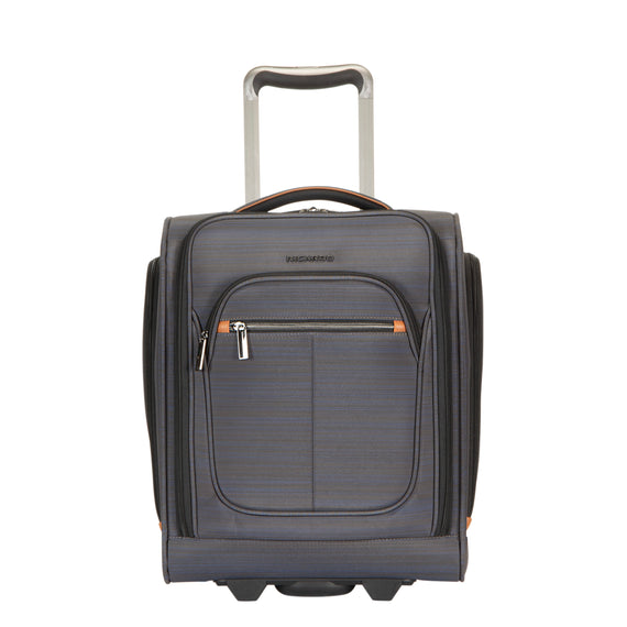 Small Carry-On Montecito 16-inch Rolling Tote in Gray Front View in  in Color:Gray in  in Description:Front