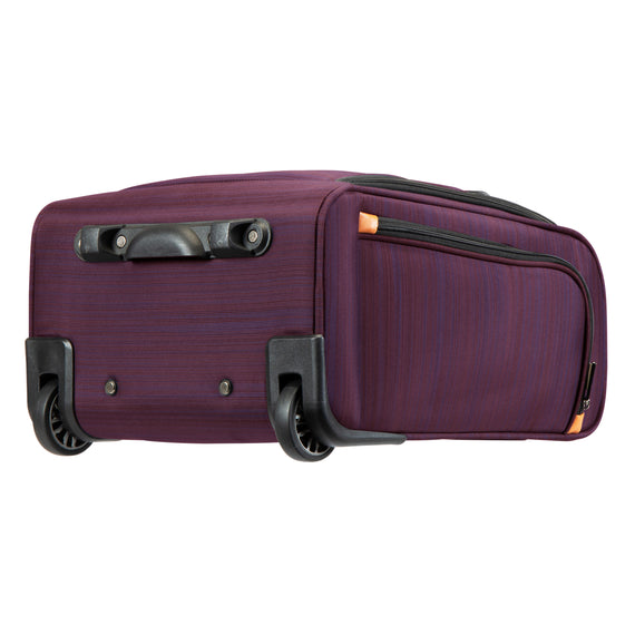 Small Carry-On Montecito 16-inch Rolling Tote in Purple Bottom View in  in Color:Purple in  in Description:Bottom