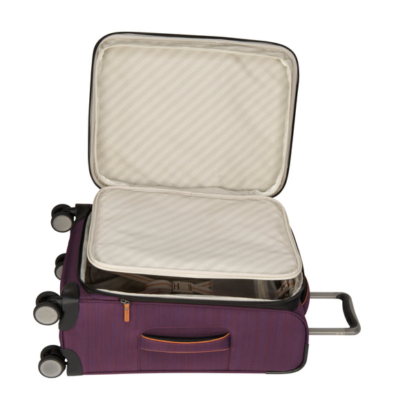 Carry-On Montecito 21-inch Carry-on in Purple Open Detail View in  in Color:Purple in  in Description:Open Detail