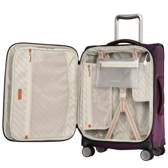 Carry-On Montecito 21-inch Carry-on in Purple Open View in  in Color:Purple in  in Description:Open